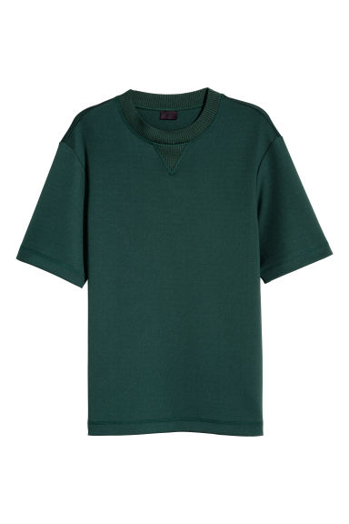 Scuba T-shirt - Dark green -  | H&M CN