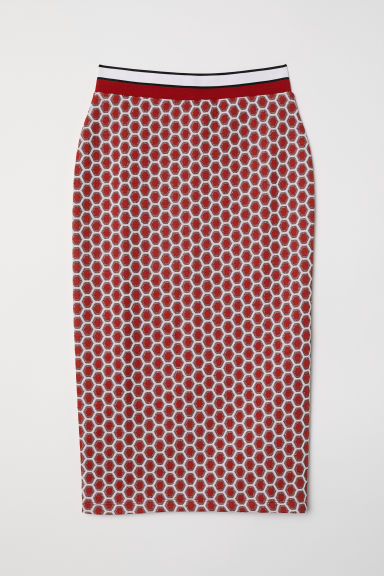 Patterned pencil skirt - Red/Patterned - Ladies | H&M GB