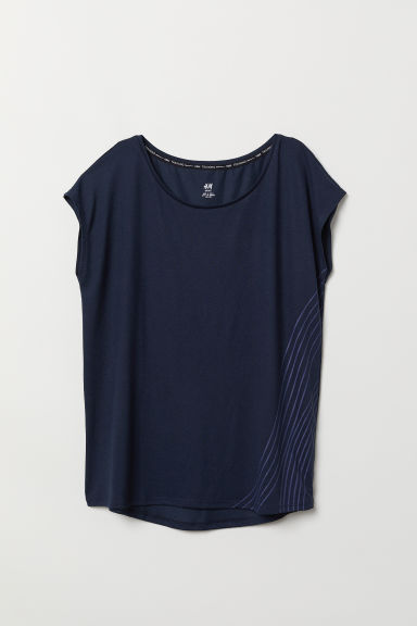 Top sportivo - Blu scuro - DONNA | H&M IT