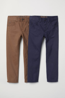 Pack 2 pantalones Regular fit