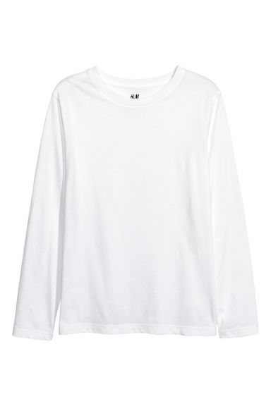 Jersey top - White - Kids | H&M