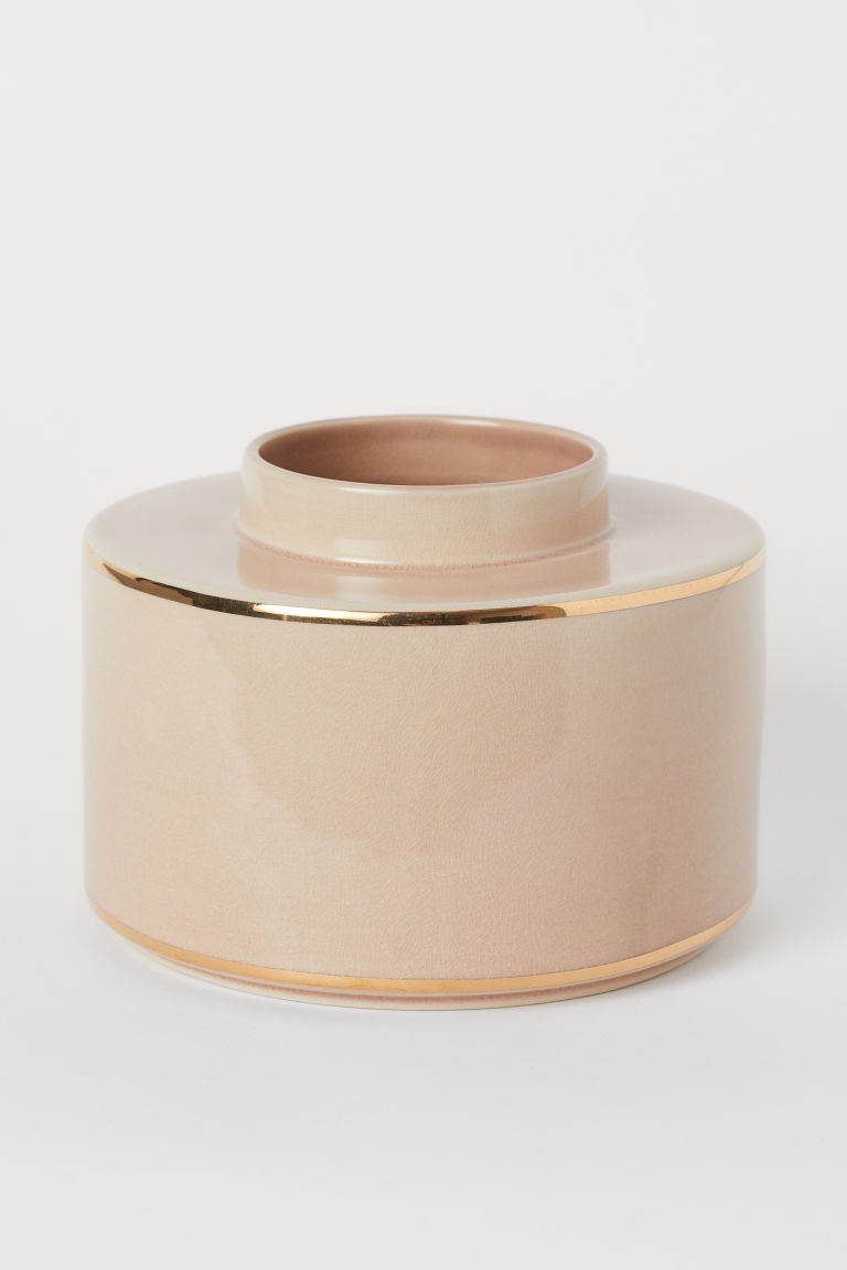 Grande vaso in ceramica - Rosa nebbia - HOME | H&M IT