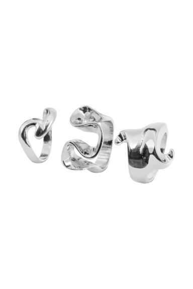 3-pack rings - Silver-coloured - Ladies | H&M CN