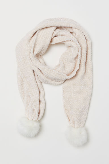 Chenille scarf - Cream - Ladies | H&M
