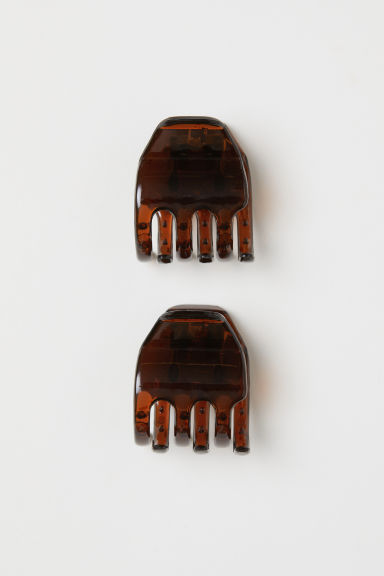 2-pack hair claws - Brown - Ladies | H&M IE