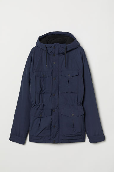 Padded parka - Dark blue - Men | H&M CN