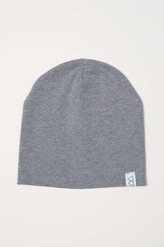 Jersey hat - Grey marl - Men  27ceb6ffe60