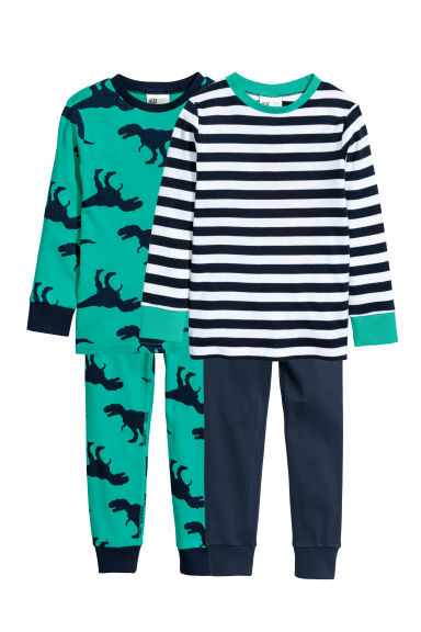 2-pack pyjamas - Green/Dinosaurs -  | H&M
