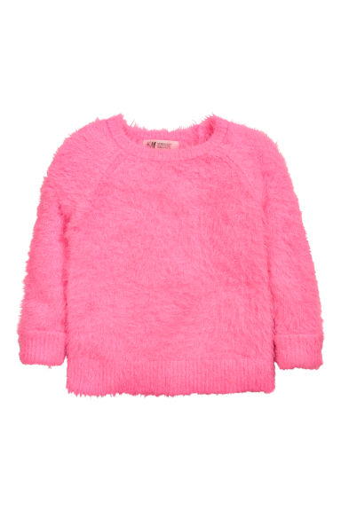 Fluffy jumper - Neon pink - Kids | H&M CN