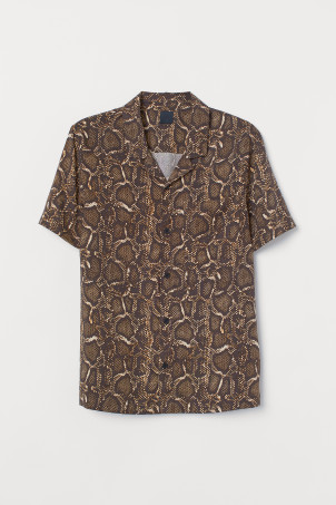 Lyocell resort shirt