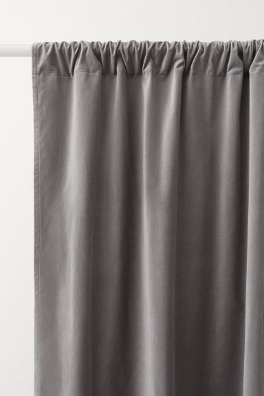 Rideaux en velours, lot de 2 - Gris - Home All | H&M FR