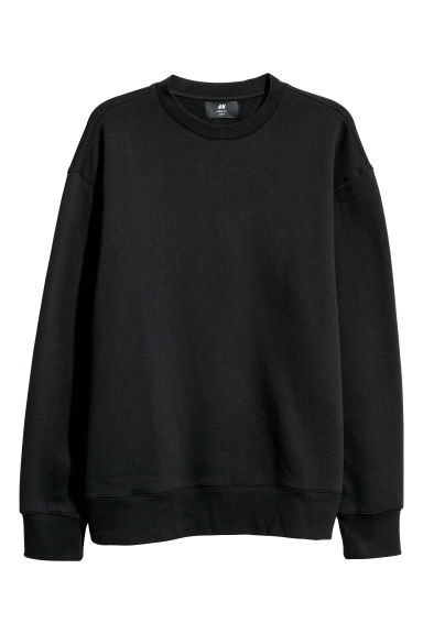 Sweatshirt Loose fit - Black -  | H&M