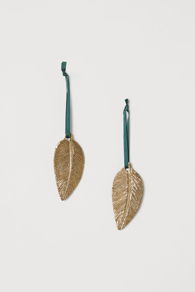 2-pack decoraciones navideñas - Dorado - Home All | H&M MX