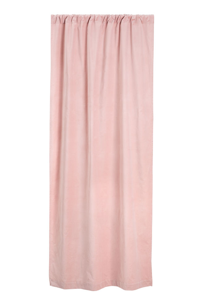 Fluwelen gordijn - Roze - HOME   H&M NL