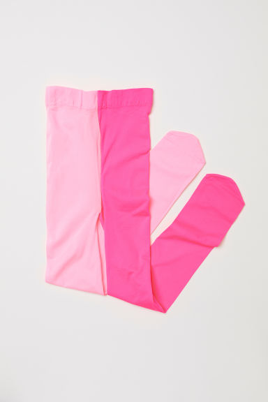 Thin tights - Neon pink -  | H&M CN