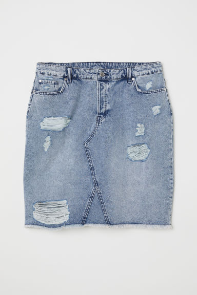 H&M+ Denim skirt - Light denim blue -  | H&M CN