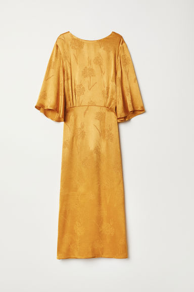 Crêpe dress - Dark yellow - Ladies | H&M CN