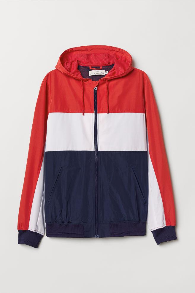 338a461e7 Windbreaker - Red/multicolored - Men | H&M ...