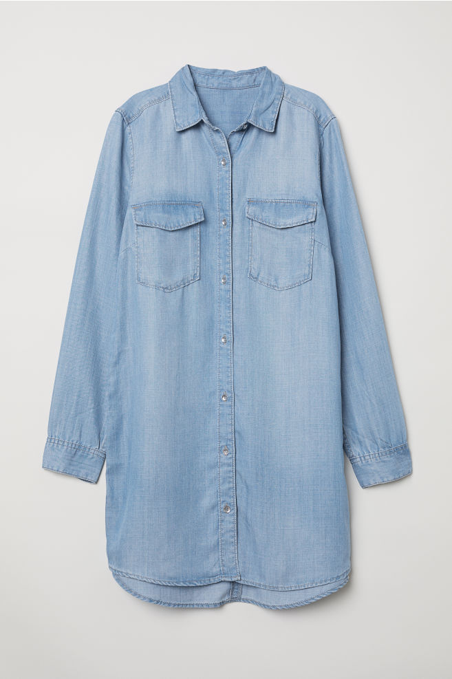 eb7d3a8699 ... Long Shirt - Light denim blue -