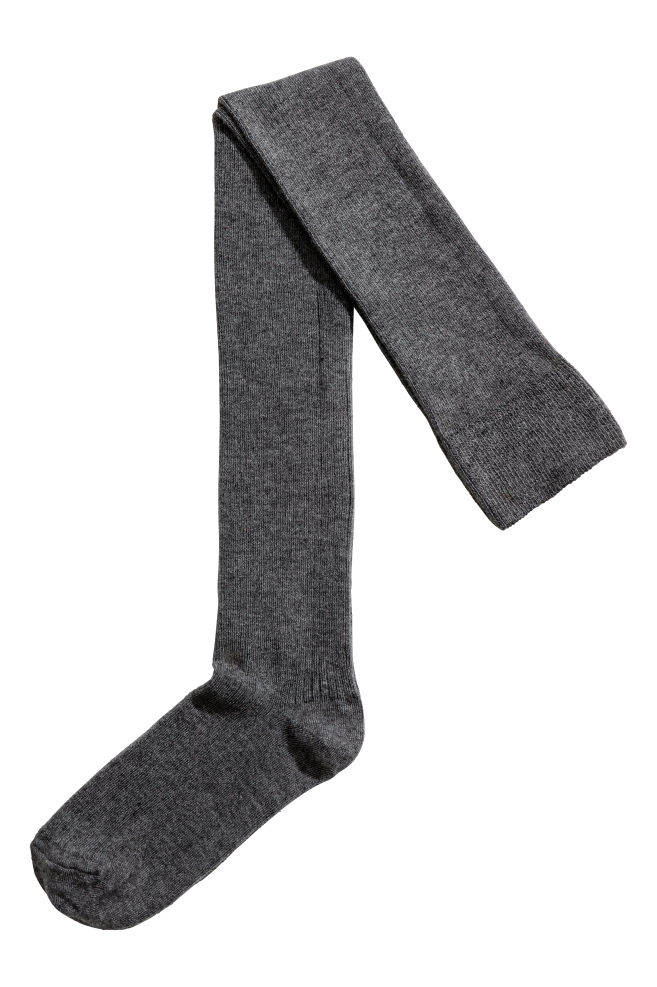 a7af475d06e44 Thigh-high over-the-knee socks - Dark grey - Ladies | H&M GB