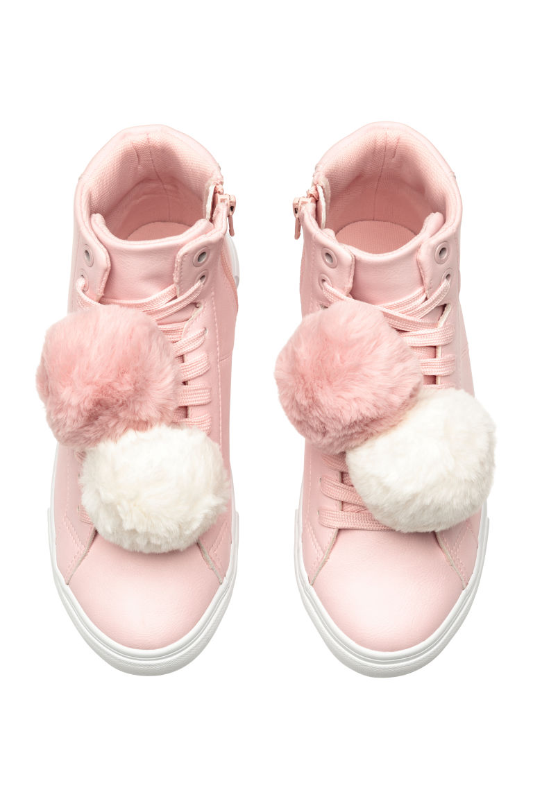 Hi-tops with pompoms - Light pink - Kids | H&M