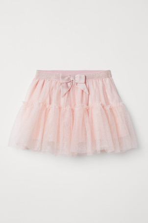 Tulle skirt with a bow