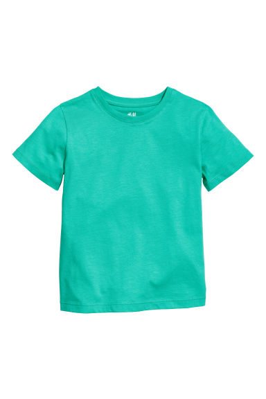Cotton T-shirt - Green - Kids | H&M CN