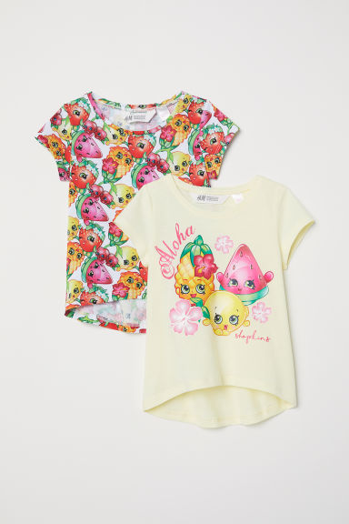 2-pack T-shirts - Light yellow/Shopkins - Kids | H&M CN