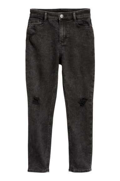 Twill trousers Trashed - Black washed out - Kids | H&M CN