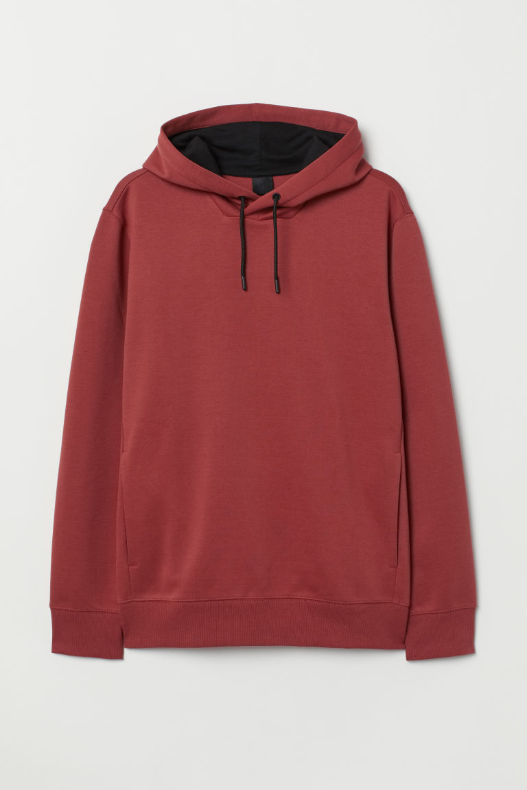 Hooded top - Rust red - Men | H&M