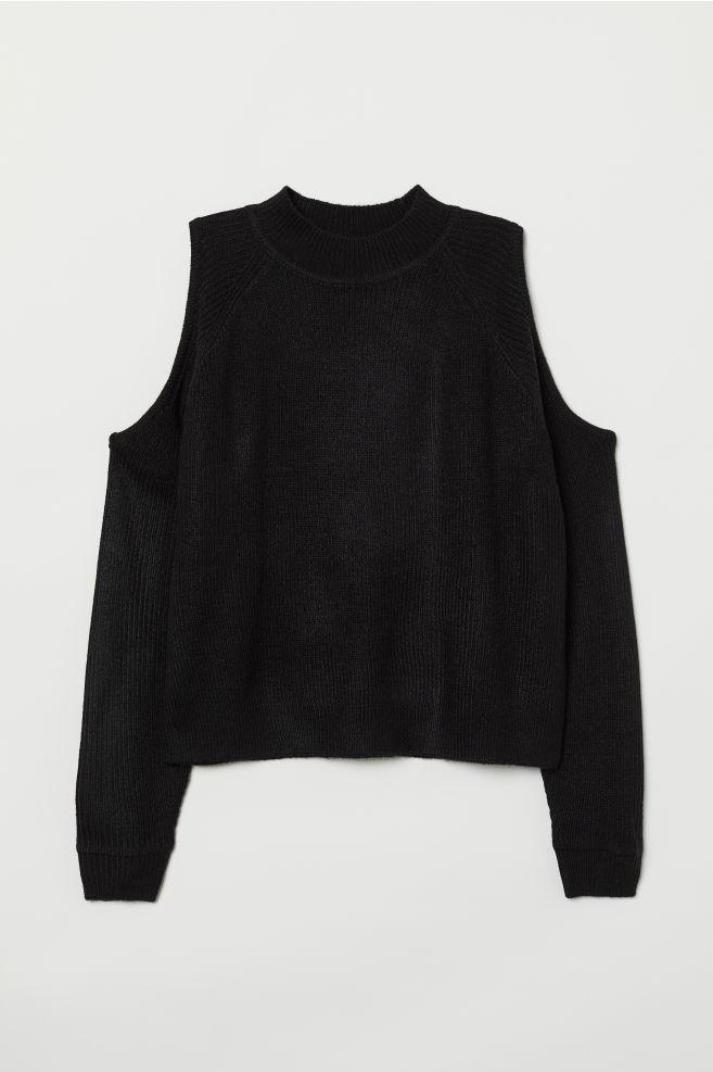 03fbcc43778d7 Cold shoulder jumper - Black - Ladies