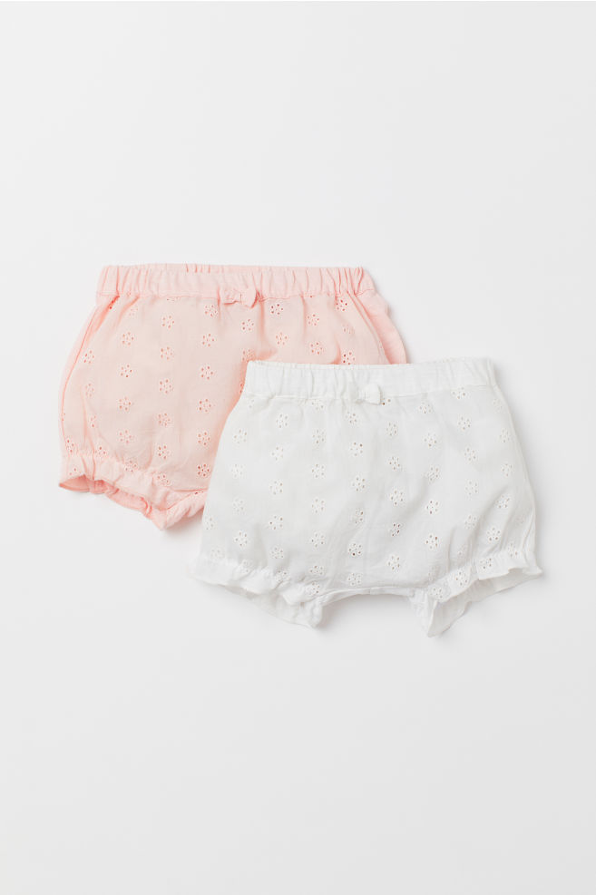 f4f58bae8ee 2-pack puff pants - Light pink White - Kids