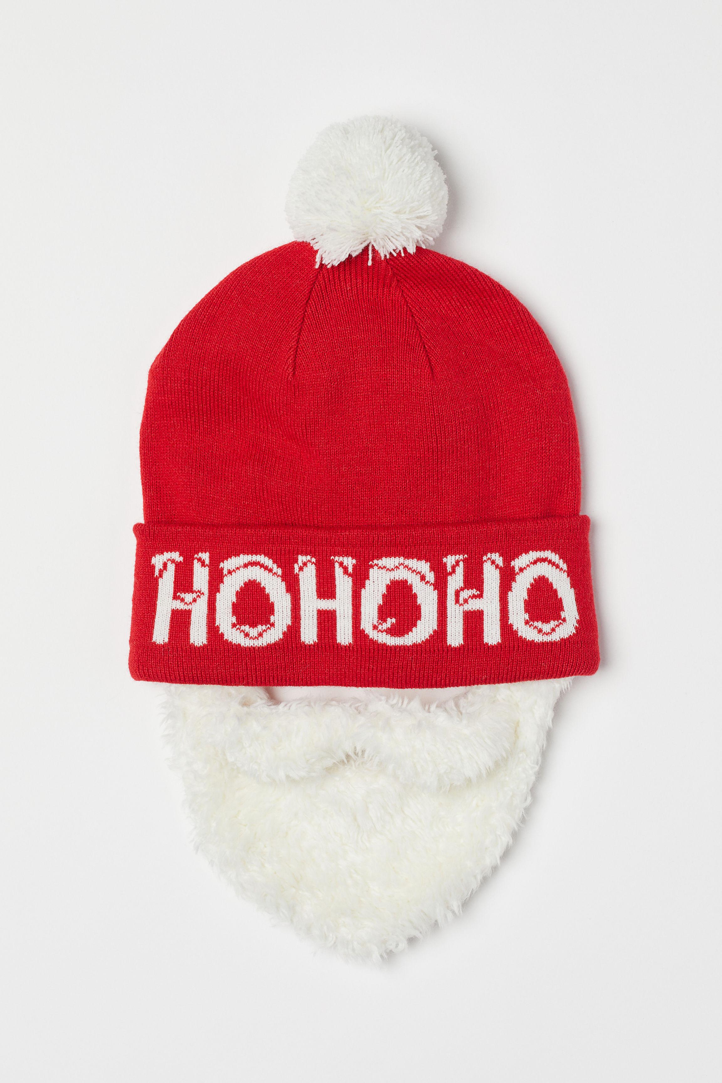 Berretto con barba - Rosso Babbo Natale - UOMO  f1e901e27d89