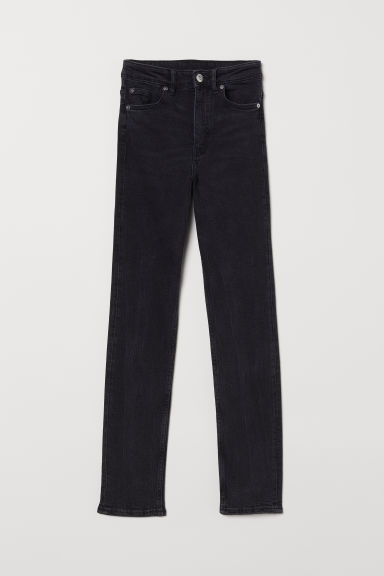 Slim High Jeans - Black denim - Ladies | H&M CN