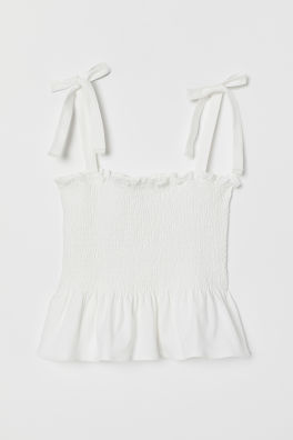 da55fc8a03a6d Strappy top with smocking