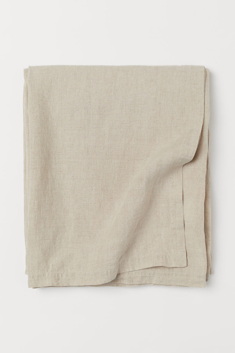 Washed linen tablecloth - Beige - Home All | H&M IE