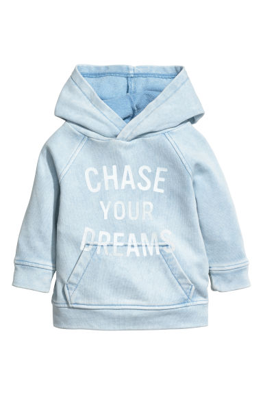 Hooded top - Light blue -  | H&M