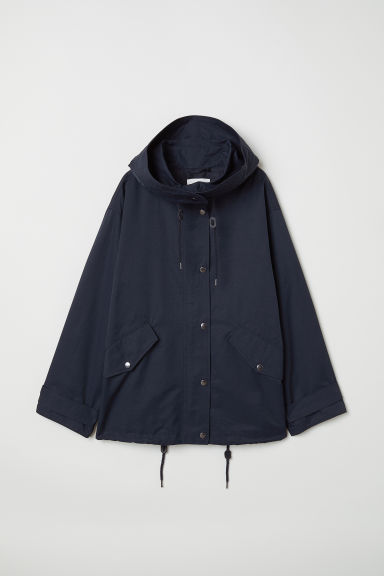 A-line parka - Dark blue - Ladies | H&M CN