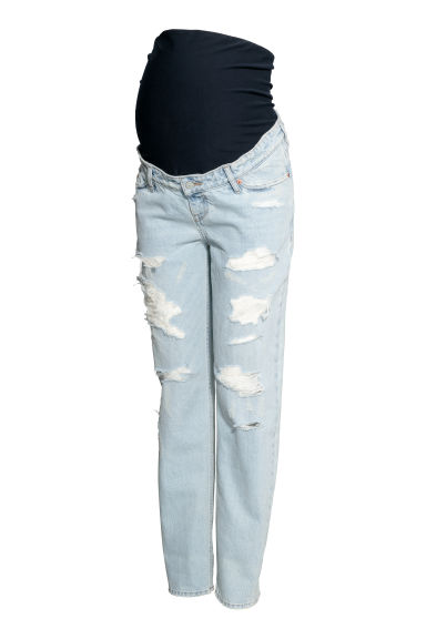 MAMA Boyfriend Jeans - Light denim blue -  | H&M