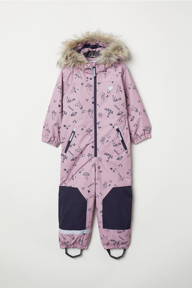 fab08f2f9 Padded Snowsuit - Pink patterned - Kids