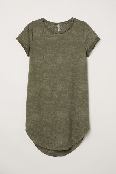 Sweatshirt dress - Khaki green -  | H&M