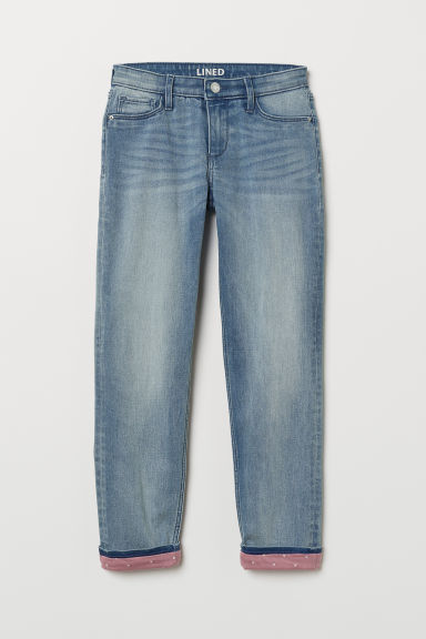 Skinny Fit Lined Jeans - Denimblauw - KINDEREN | H&M BE