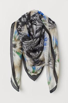 2fe15a244a7 Large Silk-blend Scarf