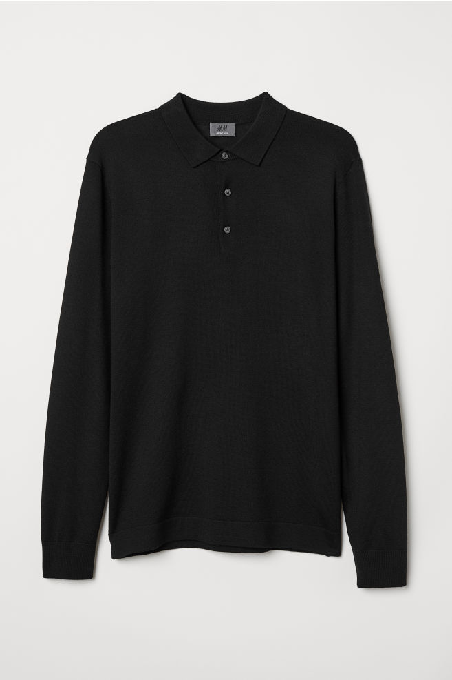 bda89700eb37 Merino Wool Sweater - Black - Men