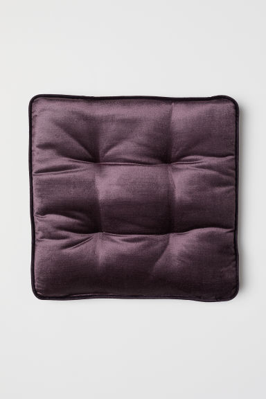 Cuscino per sedia in velluto - Viola - HOME | H&M IT