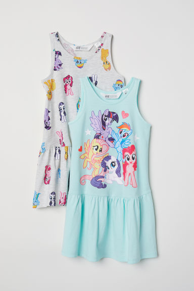 2-pack jersey dresses - Mint green/My Little Pony -  | H&M CN