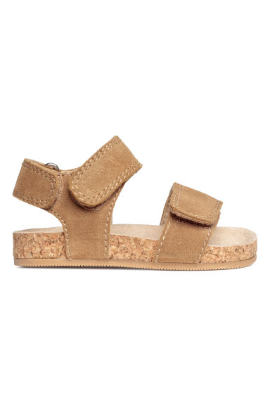 Suede sandals - Dark beige -  | H&M CN