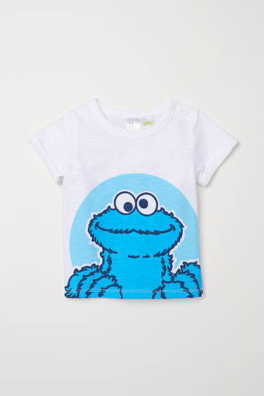 T-shirt with a print motif - White/Sesame Street - Kids | H&M