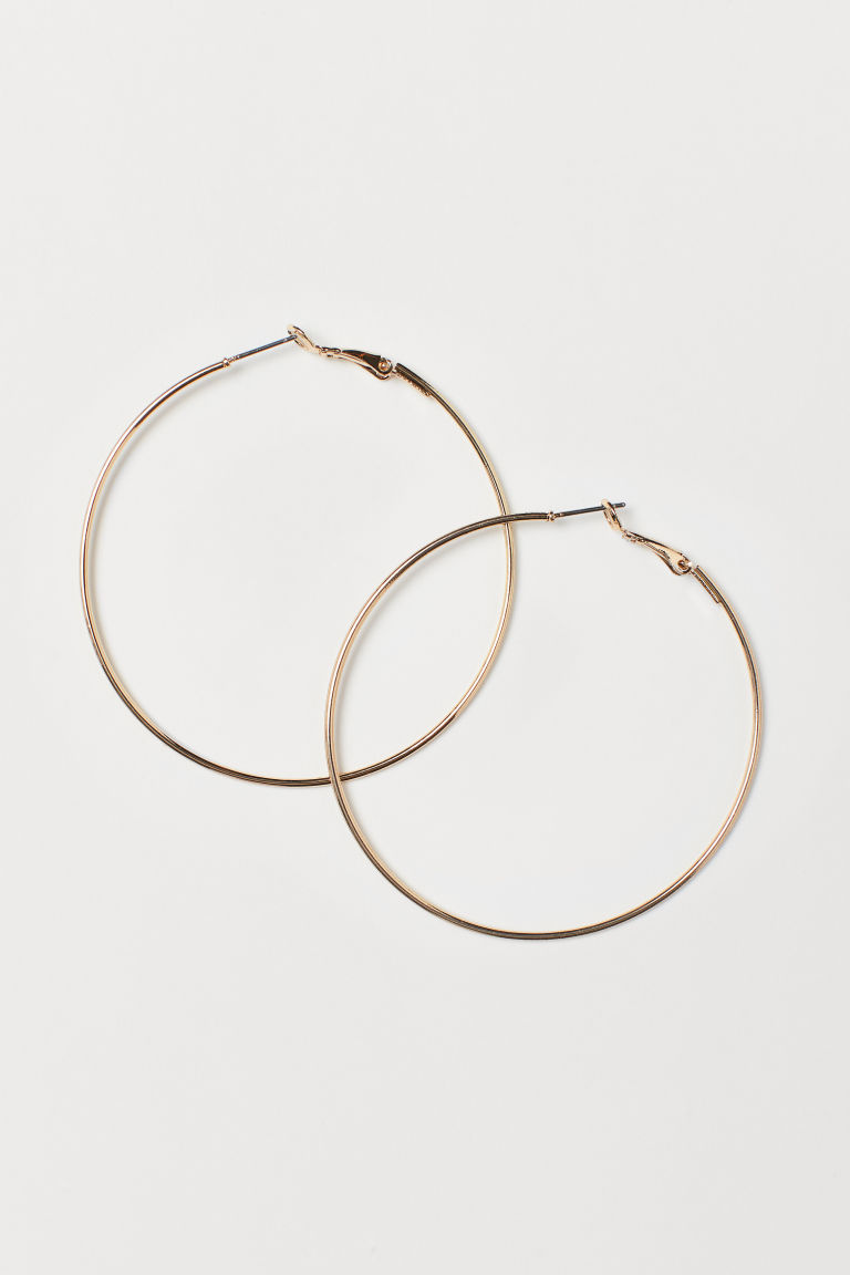 Hoop earrings - Gold-coloured - Ladies | H&M CN