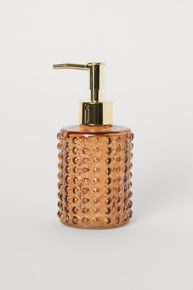 Glass Soap Dispenser - Light brown - Home All | H&M US